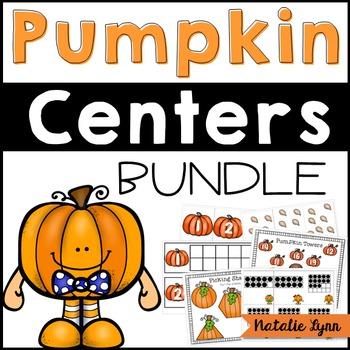 Pumpkin Math and Literacy Centers BUNDLE