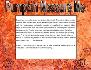 Pumpkin Measure Me
