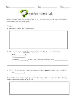 Pumpkin Metric Lab
