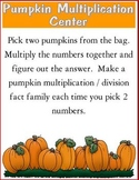 Pumpkin Multiplication Learning Center