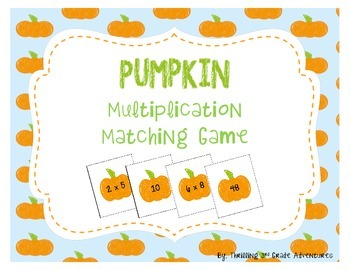 Pumpkin Multiplication Matching FREEBIE!!!
