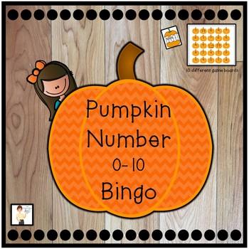 Pumpkin Number Bingo 0-10