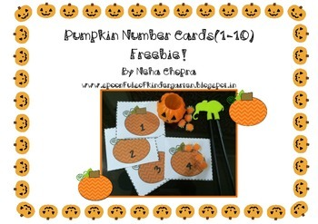 Pumpkin Number Cards (1-10)