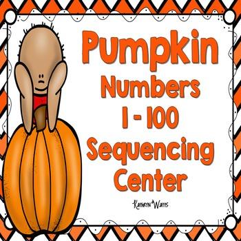 Pumpkin Number Sequencing 1 -100