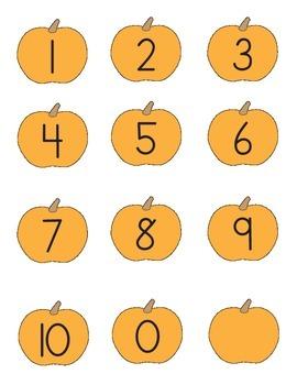Pumpkin Numbers Matching