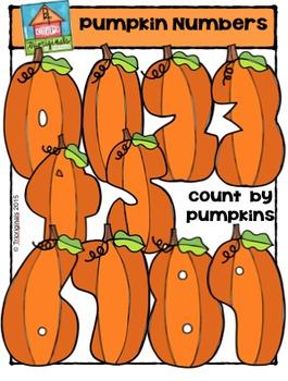 Pumpkin Numbers {P4 Clips Trioriginals Digital Clip Art}