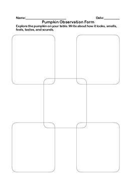 Pumpkin Observation Form
