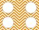 Pumpkin Orange Chevron Classroom Labels and Tags