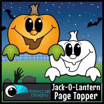 Pumpkin Page Topper Clip Art