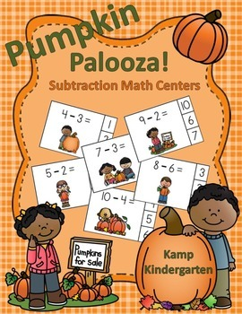 Pumpkin Palooza Subtraction Math Centers (Minuends to 10)