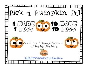 Pumpkin Pals - 1 more, 1 less, 10 more, 10 less