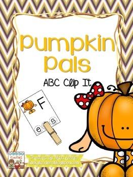Pumpkin Pals ABC Clip It