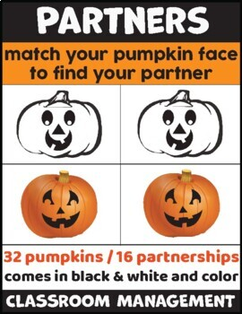 Pumpkin Partners Grouping Activity