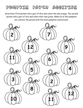 Pumpkin Patch Addition Game