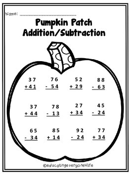 Pumpkin Patch Addition / Subtraction
