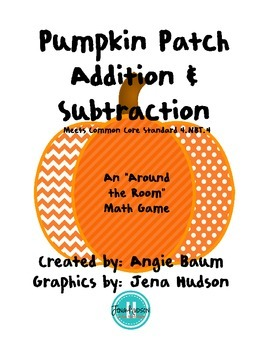 """Pumpkin Patch Addition and Subtraction - An """"Around the Ro"""