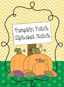 Pumpkin Patch Alphabet Match
