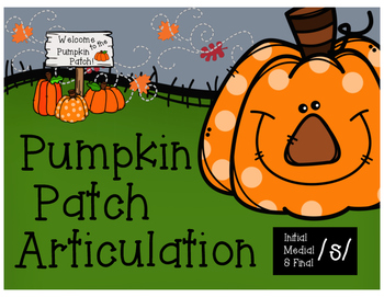 Pumpkin Patch Articulation /s/ (initial, medial, & final p