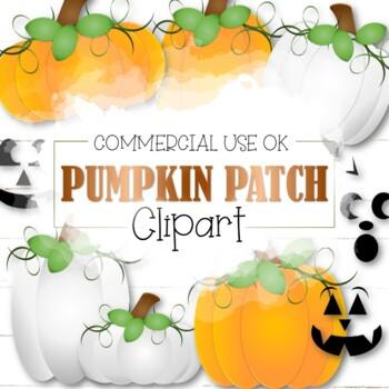 Pumpkin Patch Clipart (Cu and Cu4cu OK) - INSTANT DOWNLOAD