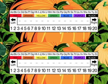 Pumpkin Patch Desk Name Tag Plates Set