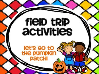 Pumpkin Patch Field Trip Activities