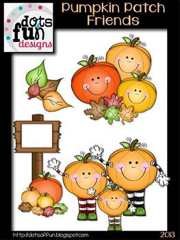 Pumpkin Patch Friends Clipart Set
