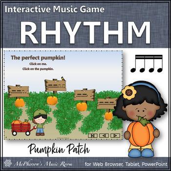 Pumpkin Patch - Interactive Rhythm Game - Sixteenth Notes