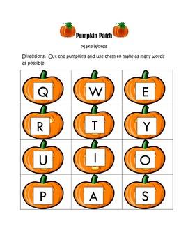 Pumpkin Patch Make Words