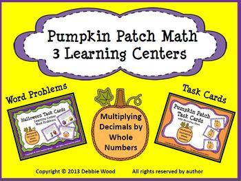 Halloween Pumpkin Patch Math Learning Centers: Multiplying