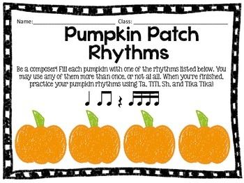 Pumpkin Patch Rhythms: Practice for Quarter Note/Rest, and
