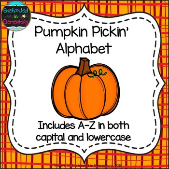 Pumpkin Pickin' Alphabet! Letter and Sound Recognition Game