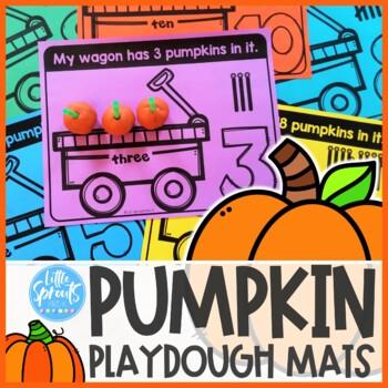 Pumpkin Playdough Mats - Counting 1-20 - Preschool, PreK,