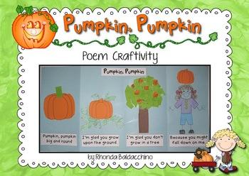Pumpkin, Pumpkin ~ A Poetry Craftivity