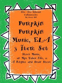 Pumpkin Pumpkin Music, ELA: 3 Item Set