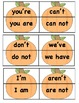 Pumpkin Puzzle Matching Cards - Contractions
