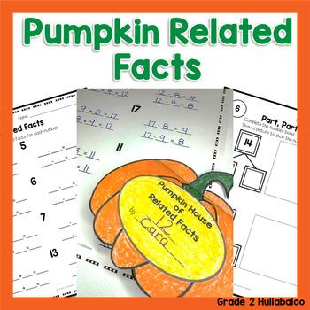 Math - Pumpkin Related Facts Flip Book {FREEBIE!}