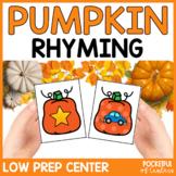 Pumpkin Rhyming Game