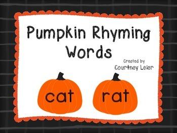 Pumpkin Rhyming Words