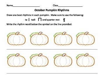 Pumpkin Rhythms Ta Tadi and Rest