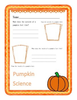 Pumpkin Science Worksheet