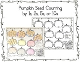 Pumpkin Seed Counting Worksheet: 1s, 2s, 5s, 10s