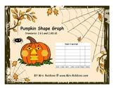 Pumpkin Shape Graph 2.G.1 and 2.MD.10