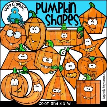 Pumpkin Shapes Clip Art Set - Chirp Graphics
