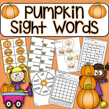Sight Word Activities PUMPKINS!