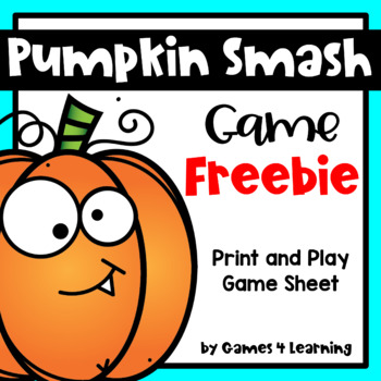 Pumpkin Smash Printable Game