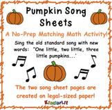 Pumpkin Song Sheet