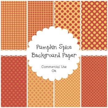 Pumpkin Spice Background Papers Commercial Use OK