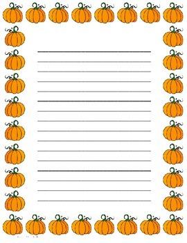 Pumpkin Stationary