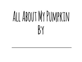 Pumpkin Study Book Printable