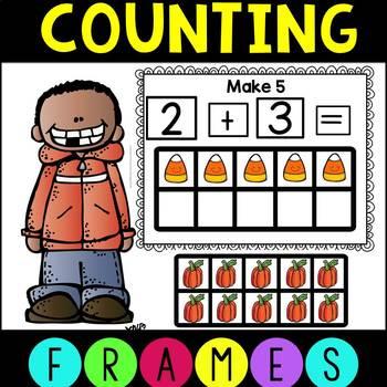 Fall Pumpkin Ten Frames for Counting